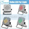 9X12W Rgbwuv Flat Wireless PAR LED Light