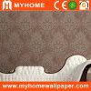 Document van de Muur van pvc van Paintable het Vinyl met de Lijm van het Behang
