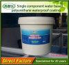 Material de revestimiento impermeable a base de agua de la impermeabilización del agua de la PU de la capa de Js