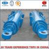 Cilindro hidráulico telescópico del solo movimiento largo de la acción para la industria