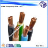 Voltage/PVC bajo cable flexible de la base forrada/sola de Insualted/PVC