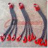 Bride G80 à chaînes à quatre jambes forgée d'acier allié avec l'individu d'oeil de SLR fermant à clef le crochet/crochet de chape