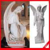 Cinzeladura de pedra da estátua de mármore da escultura do anjo da estátua do anjo