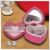 Fábrica de la PU de cuero de moda de la boda caja de joyería del papel terciopelo rosa