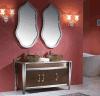 Gabinete de banheiro clássico do aço inoxidável de dissipadores dobro (T-004)
