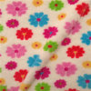 Flower sveglio Design Print Luxury Long Plush Fur Fabric per Upholstery