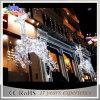 休日のモチーフ白い屋外LEDのクリスマスのトナカイライト