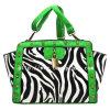 HD25-161 groene Gestreepte Dame Tote Bags Trend Rivet Deisgner Handtassen