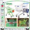 TPR Castors Plastic Coating Supermarket Shopping Cart Trolley