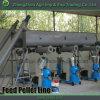 A linha de produção aves domésticas da pelota da alimentação dos peixes alimenta a pelota que faz o moinho