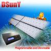 Luz programable del acuario del LED para el coral del filón, ningún ruido del ventilador, salida del sol/puesta del sol/lunar, 28/56/112*3W