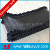 Polyester/Nylon nero Canvas Flat Conveyor Belt con Sidewall
