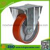 Roulette industrielle de bas-de-ligne de polyuréthane de type européen de fer