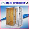 Weiße Farben-kompletter Haus-Gebrauch-trockener und nasser Sauna-Dampf-Dusche-Raum (AT-D8853)