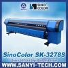 3.2m Solvent Printer Sinocolor Sk3278s, con Spt510/50pl Heads