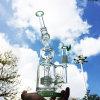 Mehrfachverbindungsstelle, die grünes Glas-rauchendes Wasser-Rohr mit Nagel (ES-GB-606, filtert)