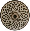 Mattonelle di mosaico di marmo decorative del medaglione