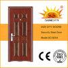 Diseños de acero del guardarropa de la puerta de la puerta de acero de Nigeria solos (SC-S004)