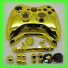Controlador Shell de abrigo cheio do cromo do ouro com todas as teclas para o controlador xBox360