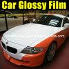 Pellicola lucida arancione del vinile dell'automobile utilizzata dell'autoadesivo del PVC degli accessori delle automobili