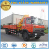 Dongfeng 6*4는 XCMG 기중기로 팔 기중기 트럭을 접히는 8 톤 거치했다