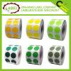 0,5 pulgadas Redondo Color Codificación autoadhesivos Label