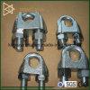 Clip de cable de alambre maleable galvanizado DIN741