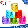 Bunte würfelförmige Form Tealight Glaskerze-Halter (CHZ8014)