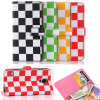 2015 forma Colorful Lattice Wallet Cell Phone Caso para o iPhone 6 Plus