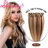 Extensión al por mayor del pelo humano de la pinza de pelo de Remy de la Virgen de los nuevos productos del pelo in/on