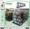 Scaffalatura d'acciaio del reparto della vendita al dettaglio di colore del nero della mensola del supermercato