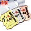 Medalha atrativa feita sob encomenda da competição de Taekwondo do esporte da prata da antiguidade do projeto