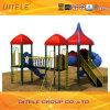 114mm電流を通されたポストの多彩な六角形のデッキの子供の屋外の運動場装置