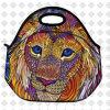 Le déjeuner isolé par configuration de lion met en sac le petit sac de refroidisseur de nourriture de pique-nique d'école de garçon de filles de gosses