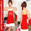 Bowknot de las mujeres y traje de la Navidad de Santa del resbalón