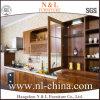 ISO9001のチェリーの純木デザイン食器棚