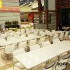 현대 가구 음식 백화점 대중음식점 인공적인 돌 테이블