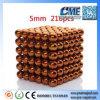 Esferas do ímã 216 brinquedos 5mm magnéticos para miúdos