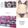 Причудливый напечатанная цифров ткань Джерси Knit для Swimwear