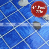 4 '' x4 '' Wave Pattern Swimmping Pool Mosaic Scuro-blu Tile (BCP603)