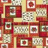 Stampa della cera di Hollandais placcata oro/tessuto di cotone africano/disegni dorati di Natale del tessuto della stampa della cera