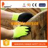 Línea Napping amarilla guantes de trabajo (DKL440) R. de la fibra de acrílico de la fluorescencia