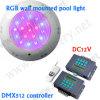 la piscina de 12V IP68 DMX RGB LED subacuático enciende 54W, 18W, 12W