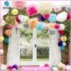 Flor al aire libre del papel de tejido de la decoración del partido POM POM hecha a mano (PTOP-03)