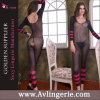 Sexy Long Sleeve Bodystocking des femmes avec Open Crotch (KK02-040)