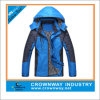 Mens Waterproof encapuçado Outdoor Light Jacket com Front Zipper