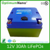 LiFePO4 bateria 12V 30ah para a luz solar