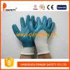 Перчатка работы белого Nylon голубого нитрила покрытая (DNN422)