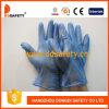 Gants bleus de sécurité de gant d'examen de vinyle (DPV702)