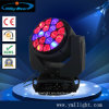 Luz principal movente do feixe novo do diodo emissor de luz do projeto 19X15W, diodo emissor de luz movente da cabeça do feixe da lavagem RGBW do zoom